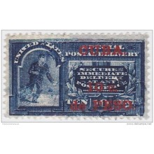 1899-261 CUBA 1899 US OCCUPATION 10c SPECIAL DELIVERY. MENSAJERO AZUL. USED.