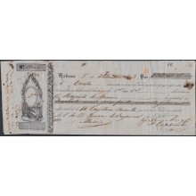 *E528 CUBA SPAIN ESPAÑA BANK CHECK 1853 NORIEGA OLMO