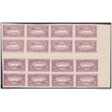REP-122 CUBA REPUBLICA REVENUE. MATANZAS LOCAL STAMP. TETE BECHE 10c BLOCK 16 PERFORATED.
