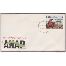 1981-FDC-34 CUBA. FDC. 1981. XX ANIV ANAP. AGRICULTURE. COUNTRYMAN