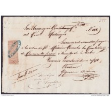E4210 SPAIN CUBA. BANK CHECK SUGAR MILLS. ECONOMIA 1869 + REVENUE GIROS.