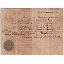 E4276 US BAPTISM ACT NEW YORK 1871. FRANCE CITIZEN