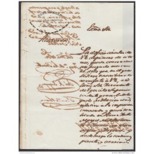 E4722 CUBA ESPAÑA SPAIN. 1842. SOBRE FALSIFICACION DE PAPEL SELLADO Y GIROS. REVENUE SEALLED PAPER FORGRY.