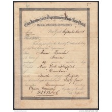 E4731 US NEW YORK. 1864. DEATH ACT SIGNED GOVERNOR CAPTAIN GENERAL DOMINGO DULCE.