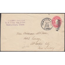 1899-EP-170 CUBA US OCCUPATION. POSTAL STATIONERY SANTA CLARA 1899 SOLDIERS LETTER. NAIFE 75.