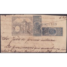 GIR-22 CUBA SPAIN ESPAÑA. REVENUE GIROS. 1888 USE ON SEALLED PAPER.