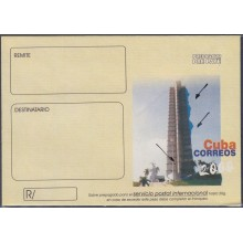 2000-EP-160 CUBA 2000. Ed.8. PLAZA DE LA REVOLUCION. ENGRAVING ERROR BLUE COLOR.