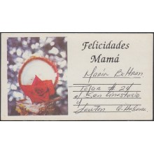 1994-EP-36 CUBA 1994. POSTAL STATIONERY PERIODO ESPECIAL CARD. FLORES FLOWERS UNCATALOGUED. USED.
