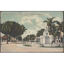 POS-305 CUBA POSTCARD. 1930. HABANA HAVANA INDIA PARK MONUMENT. PARQUE DE LA INDIA. UNUSED.