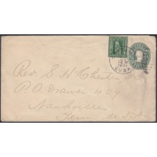 1899-EP-185 CUBA US OCCUPATION 1899 1c POSTAL STATIONERY USE 1901 CARDENAS TO NASHVILLE.