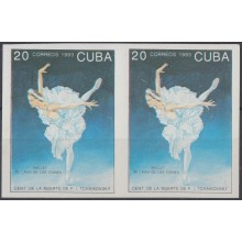 1993.145 CUBA 1993 MNH IMPERFORATED PROOF PAIR. BALLET RUSSIA RUSIA TCHAIKOVSKI. NO GUM.