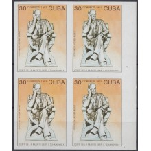 1993.146 CUBA 1993 MNH IMPERFORATED PROOF. RUSIA RUSSIA TCHAIKOVSKY BALLET BLOCK 4 NO GUM.