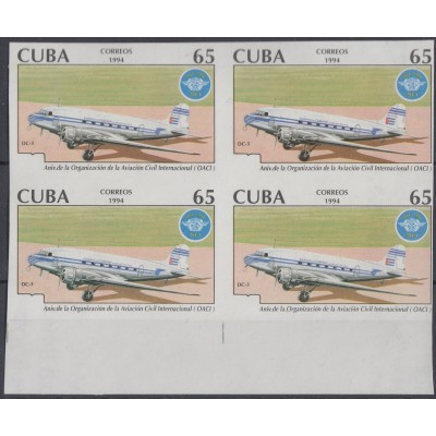 1994.227 CUBA 1994 MNH IMPERFORATED ERROR PROOF WITHOUT GOLDEN COLOR ...