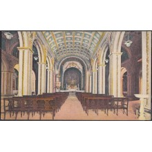 POS-329 CUBA POSTCARD SANTIAGO DE CUBA. CIRCA 1920. INTERIOR CATEDRAL. CATHEDRAL CHURCH. UNUSED.