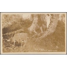 POS-356 CUBA PHOTOGRAPHIC POSTCARD PINES IS. CIRCA 1920. IRON SPRING MINE. SANTA FE. UNUSED.