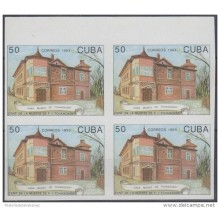1993.141- CUBA 1993. BALLET. DANCE. TCHAIKOVSKI HOUSE. BLOCK 4. PROOF. IMPERFORTATED PAIR. WITHOUT GUM.