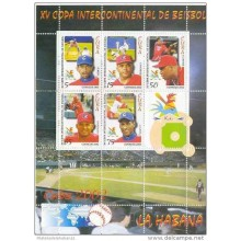 2002 AE15 CUBA SPECIAL FORMAT BASEBALL WORD CUP MNH 2002