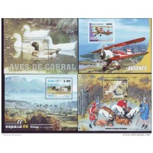 2006 AE309 CUBA COMPLETE SHEET OF YEAR 2006 MNH AIRPLANE DOG