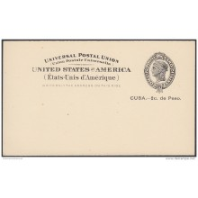 1899-EP-182 CUBA US OCCUPATION. 1899. 1c POSTAL CARD STATIONERY. NAIFE 81 Ed.40. UNUSED.