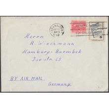 1959-H-21 CUBA 1959.30c AEREO LIBRONES. POSTAL HISTORY BOOK STAMPS DAY. DIA DEL SELLO. COVER TO GERMANY ALEMANIA 1959.