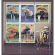 2002.177 CUBA MNH SPECIAL FORMAT MUSROOAD ONLY 10.000 HONGOS
