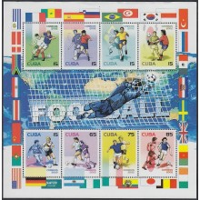 2002.80 CUBA MNH 2002. SPECIAL FORMAT SHEET. FOOTBALL SOCCER FUTBOL WORLD CUP.