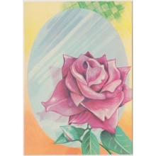 1981-EP-100 CUBA 1981 POSTAL STATIONERY. Ed.128i. DIA DE LAS MADRES. MOTHER DAY SPECIAL DELIVERY. ROSA FLOWER UNUSED