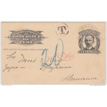1904-EP-110 CUBA REPUBLICA. 1904. Ed.70. 1c SPECIAL DELIVERY CARD TO GERMANY. POSTAGE DUE1914.