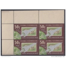 1964.88 CUBA 1964 Ed.1105. VOSJOD. FIRT MAN IN SPACE. SPACE COSMOS. BLOCK 4 MNH.