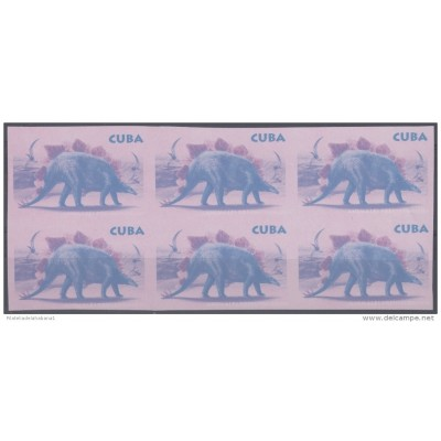 2006.468 CUBA 2006 MNH IMPERFORATED PROOF. 65c DINOSAURIOS DINOSAUR WITHOUT COLOR ERROR.