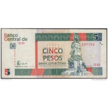 2006-BK-136 CUBA 2006 5 cuc REEMPLAZO REPLACEMENT USED SERIE CZ. USED.