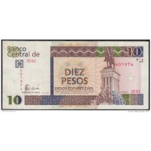 2006-BK-137 CUBA 2006 10 cuc REEMPLAZO REPLACEMENT USED SERIE DZ. USED.