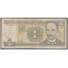 2010-BK-135 CUBA 2010 1 PESO JOSE MARTI. REEMPLAZO REPLACEMENT USED. SERIE GZ.