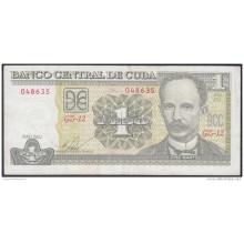 2011-BK-118 CUBA 2011 1 PESOS JOSE MARTI. REEMPLAZO REPLACEMENT USED. SERIE GZ.
