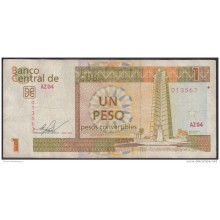 2013-BK-45 CUBA 2013 1 cuc REEMPLAZO REPLACEMENT USED SERIE AZ. DOBLE FIRMA ERROR