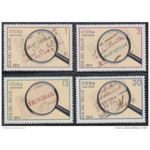 1974.87 CUBA 1974 MNH. Ed.2131-34. DIA DEL SELLO, STAMPS DAY, POSTAL HISTORY STAMPLESS.