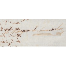 BE647 CUBA SPAIN ESPAÑA 1807 AUTOGRAPH CAPTAIN GENERAL MARQUES SOMERUELOS