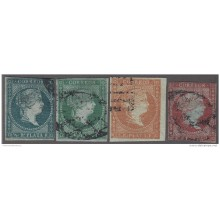 1855-152 CUBA SPAIN ESPAÑA. 1955. Ant.1-3, 3, MEDIO REAL - 2 REALES SET.