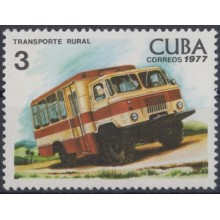1977.90 CUBA 1977 MNH. Ed.2363. TRANSPORTE RURAL AUTO AUTOMOVIL BUS.