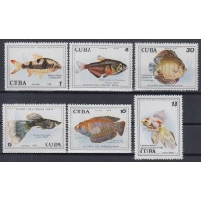 1978.98 CUBA 1978 MNH. Ed.2471-76. ACUARIO DEL PARQUE LENIN. SEA AQUARIUM FISH PECES.