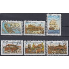 1980.69 CUBA 1980 MNH. Ed.2663-68. CONSTRUCCION NAVAL OLD SHIP BARCOS.