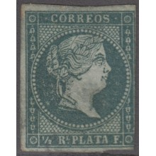 1855-162 CUBA ANTILLES SPAIN ESPAÑA.1855. Ed.Ant.1 MEDIO REAL UNUSED NO GUM.