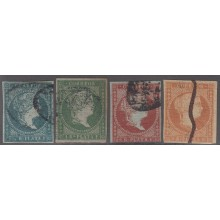 1855-164 CUBA ANTILLES SPAIN ESPAÑA.1855. Ed.Ant.1-3, 3. ANTILLES SET USED.