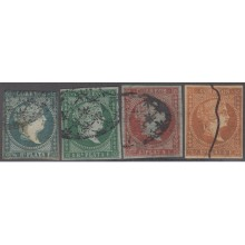 1855-167 CUBA ANTILLES SPAIN ESPAÑA.1855. Ed.Ant.1-3, 3. ANTILLES SET USED.