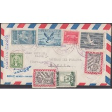 1959-H-28 CUBA REPUBLICA. 1959 SOLDADO REBELDE + OTHER BIRD AIR COVER TO SPAIN