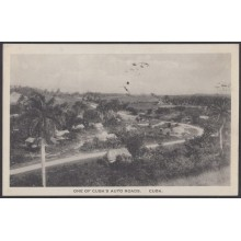 POS-932 CUBA POSTCARD. 1921 CENTRAL AUTO ROADS CARRETERA CENTRAL TO GERMANY
