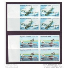 1994 D1466 CONGO MNH IMPERFORATED PROOF MNH 1994 AVION HIDROAVION