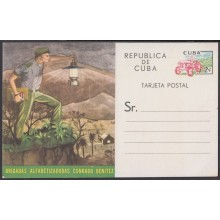 1961-EP-20 CUBA REPUBLICA 1961. 2c LITERACY CAMPAING POSTAL STATIONERY UNSUED.