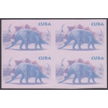 2006.470 CUBA 2006 IMPERFORATED PROOF ERROR WITHOUT COLOR. DINOSAUR DINOSAURIOS BLOCK 4.