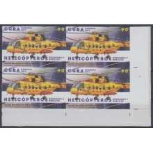 2018.56 CUBA 2018 MNH. IMPERF PROOF. 90c HELICOPTEROS RESCATE. HELICOPTER. CANADA. WESTLAND CH-149 CORMORANT.